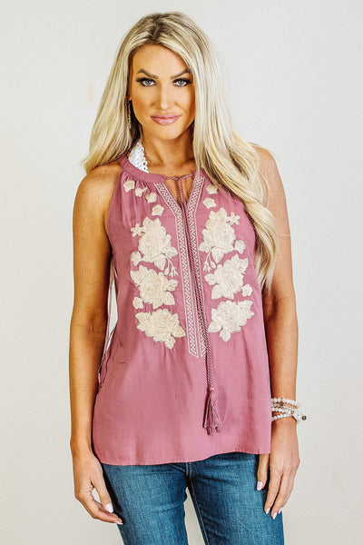 Glitzy Girlz Boutique Feeling Marvelous Top, Mauve