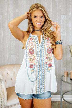 Glitzy Girlz Boutique Festival Days Top, Ivory