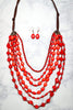 Glitzy Girlz Boutique Finally Got You Home Necklace, Red