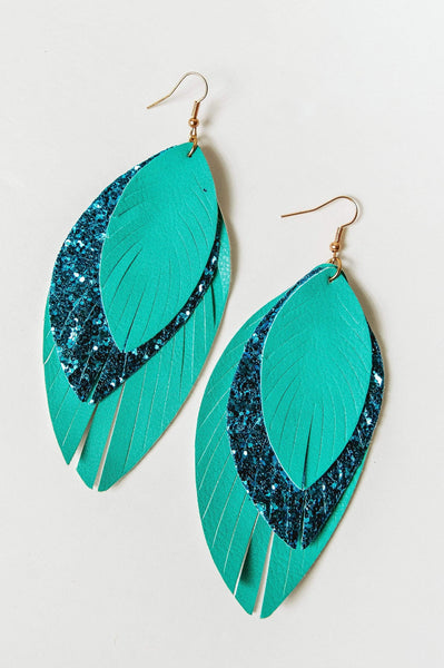 Glitzy Girlz Boutique Flighty Sparkle Earrings, Shades Of Blue