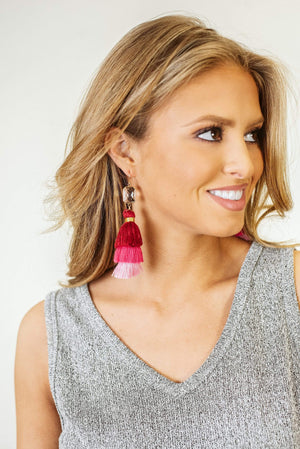 Glitzy Girlz Boutique Fond Memories Earrings, Pink