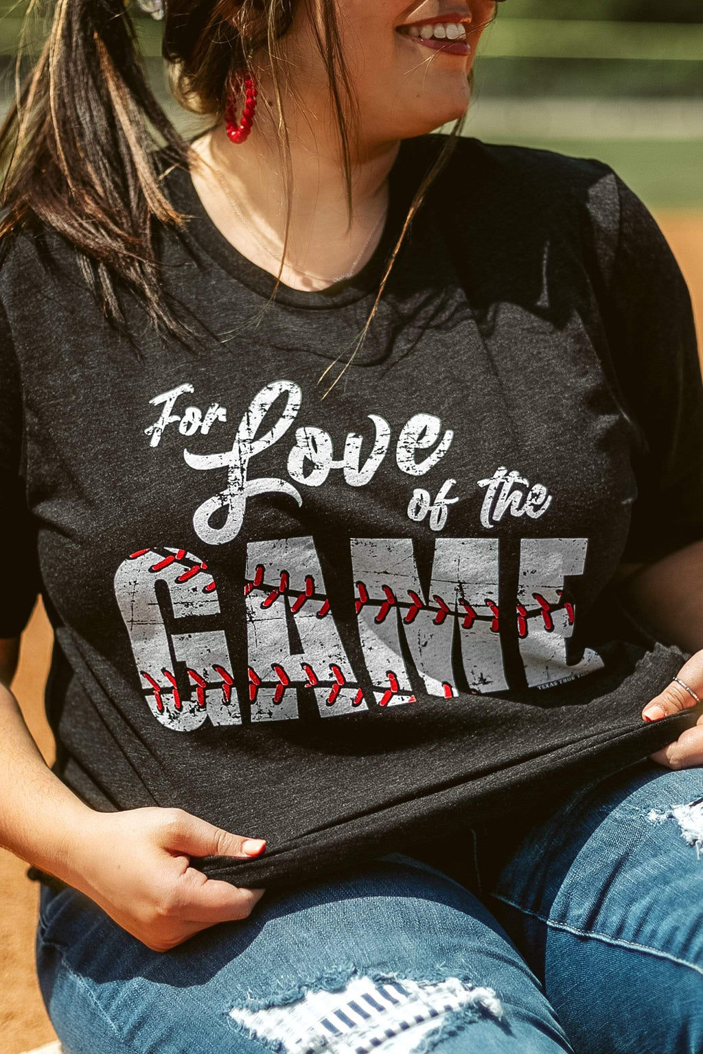 Glitzy Girlz Boutique For Love Of The Game Graphic Tee