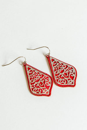 Glitzy Girlz Boutique Forever Yours Earrings, Red