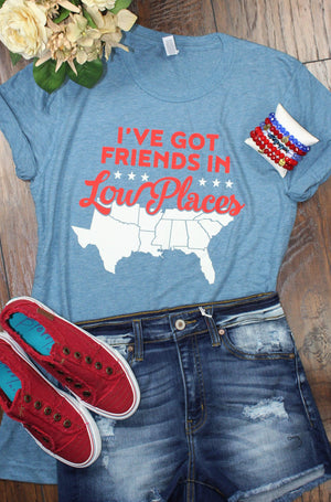 Glitzy Girlz Boutique Friends In Low Places Graphic Tee