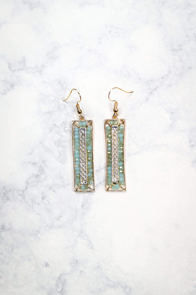 Glitzy Girlz Boutique Gazing Ahead Earrings, Mint
