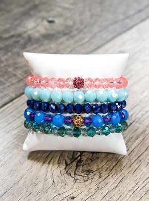 Glitzy Girlz Boutique GG Bracelet Set: Indian Summer