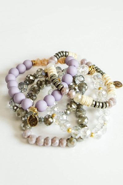 Glitzy Girlz Boutique GG Bracelet Set: Lavender Skies
