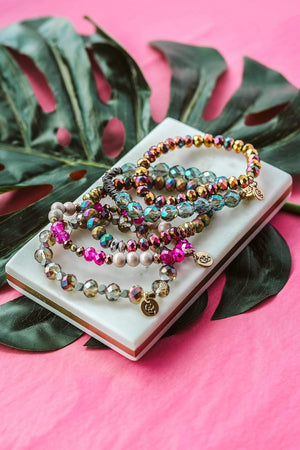 Glitzy Girlz Boutique GG Bracelet Set: Mardi Gras Madness