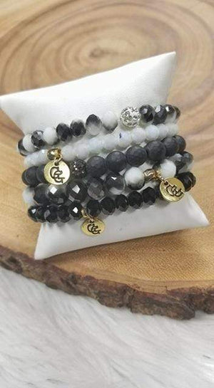 Glitzy Girlz Boutique GG Bracelet Set: Oreo