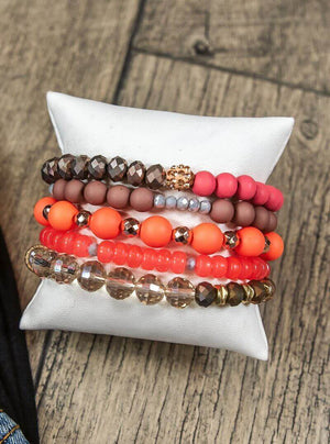 Glitzy Girlz Boutique GG Bracelet Set: Peachy Keen