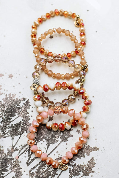 Glitzy Girlz Boutique GG Bracelet Set: Sand