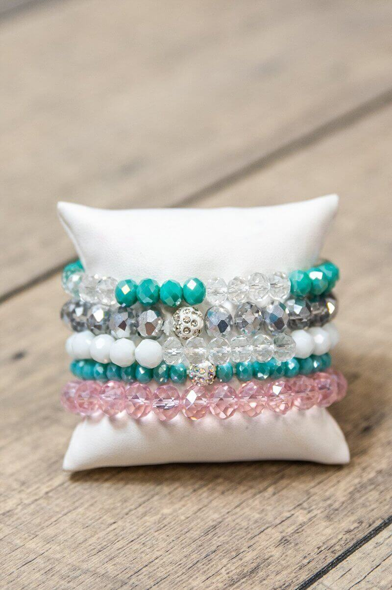 Glitzy Girlz Boutique GG Bracelet Set: Spring