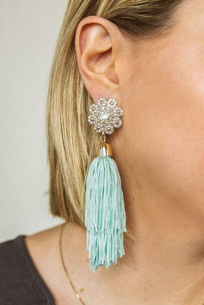 Glitzy Girlz Boutique Girls Night Out Earrings, Mint