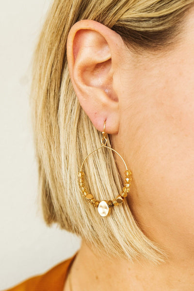 Glitzy Girlz Boutique Glam In The Streets Earrings, Champagne