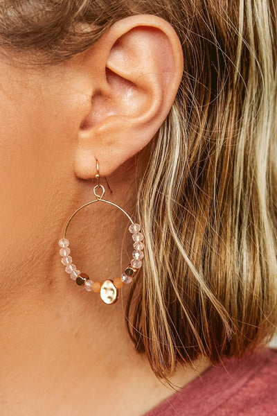 Glitzy Girlz Boutique Glam In The Streets Earrings, Rose