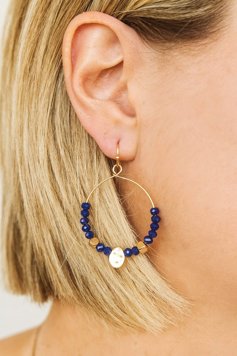 Glitzy Girlz Boutique Glam In The Streets Earrings, Royal