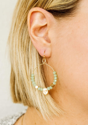 Glitzy Girlz Boutique Glam In The Streets Earrings, Spearmint