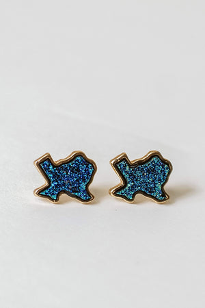 Glitzy Girlz Boutique Glitz Of Texas Earrings, Turquoise