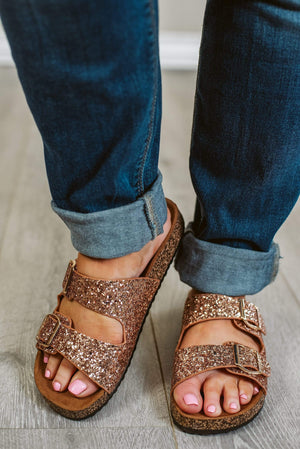 Glitzy Girlz Boutique Glory 2-Strap- Rose Gold