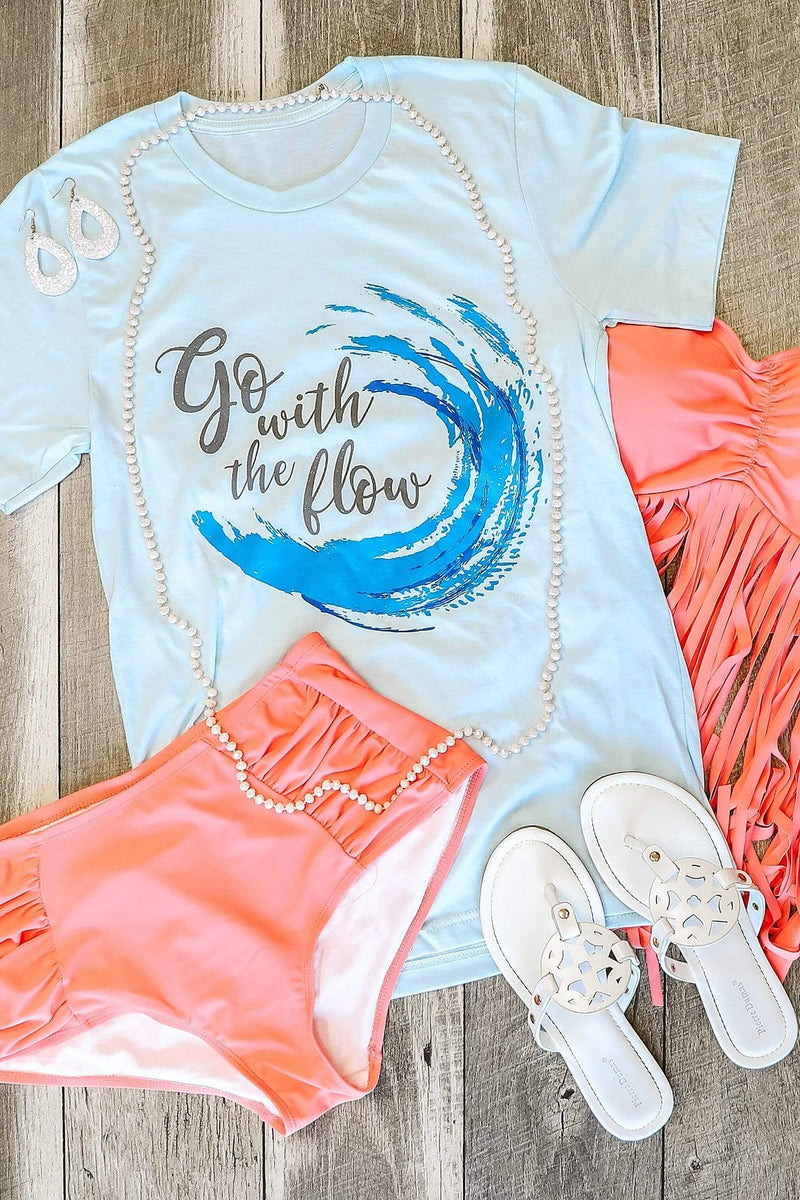 Glitzy Girlz Boutique Go With The Flow Graphic Tee