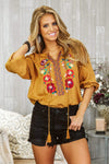 Glitzy Girlz Boutique Hello You Top, Mustard
