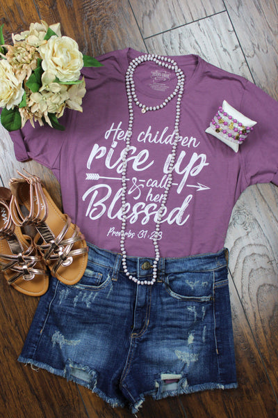 Glitzy Girlz Boutique Her Children Will Rise Up Graphic Tee