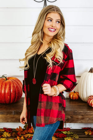 Glitzy Girlz Boutique Holy Roller Distressed Flannel