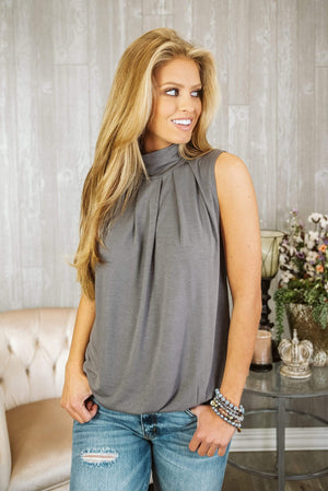 Glitzy Girlz Boutique If Only You Knew Top, Midnight Grey