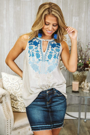 Glitzy Girlz Boutique If You Really Love Me Top, Taupe