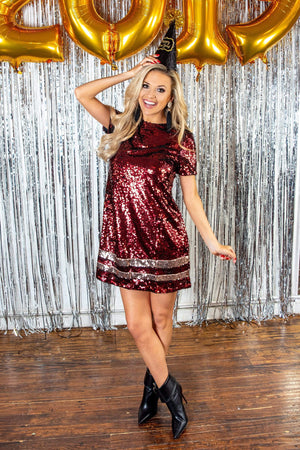 Glitzy Girlz Boutique In Your Dreams Dress, Burgundy