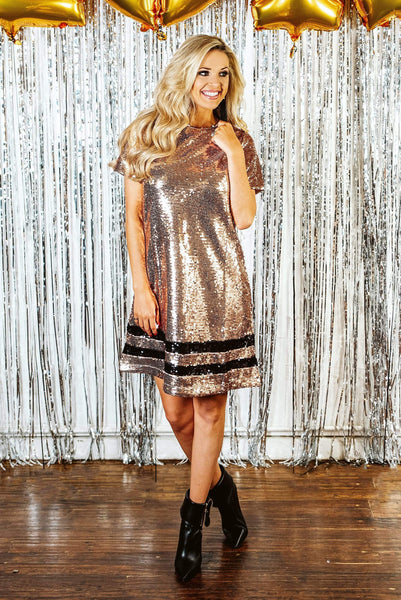 Glitzy Girlz Boutique In Your Dreams Dress, Rose Gold