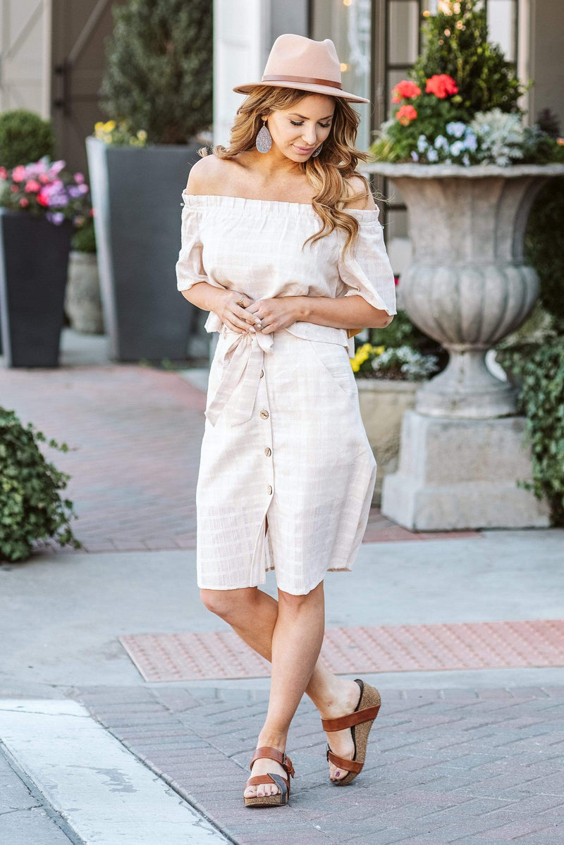 Glitzy Girlz Boutique Into The Valley Skirt, Blush