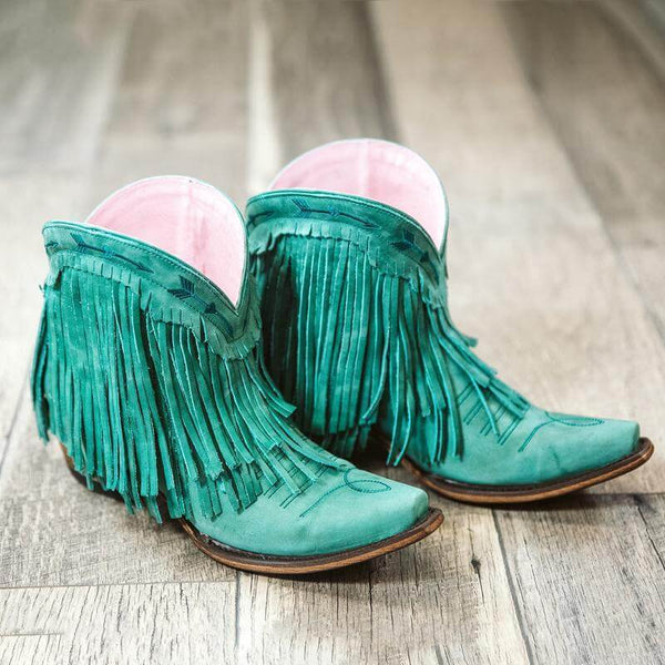 Glitzy Girlz Boutique Junk Gypsy by Lane Women's Spitfire Boots, Turquoise