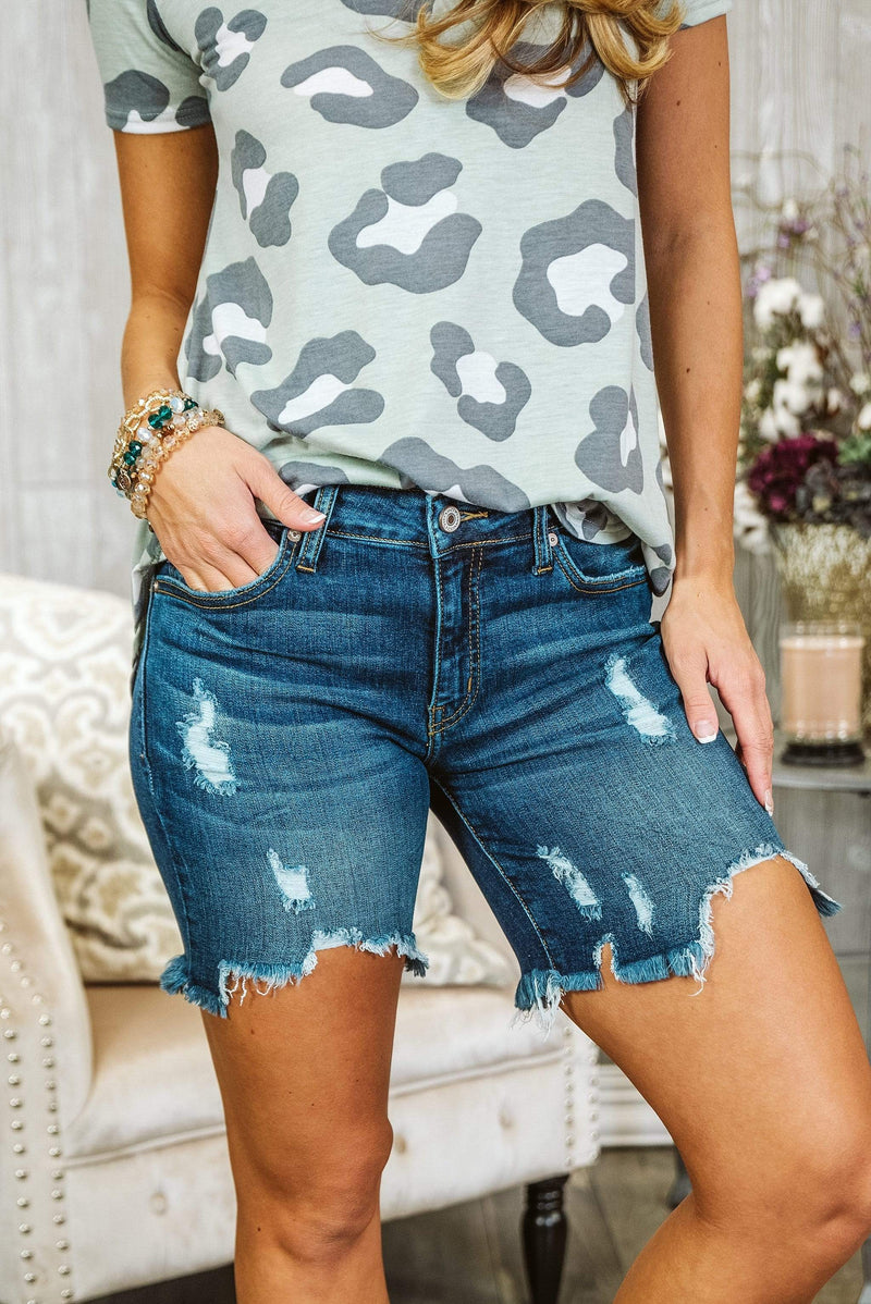 Glitzy Girlz Boutique Kacee KanCan Denim Shorts