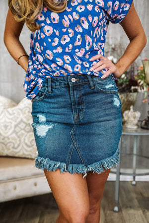 Glitzy Girlz Boutique Kimber KanCan Denim Skirt