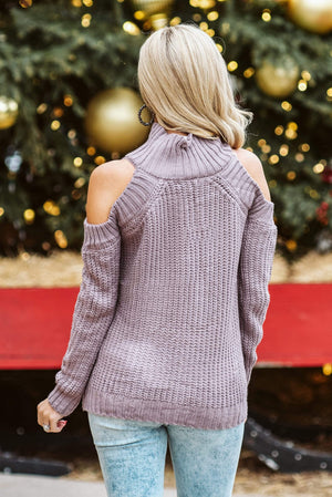 Glitzy Girlz Boutique Leave Them Wanting Sweater, Lavender