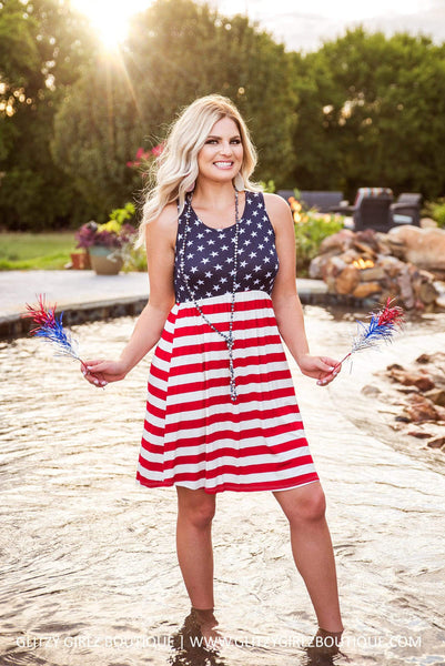 Glitzy Girlz Boutique Let Freedom Ring Dress