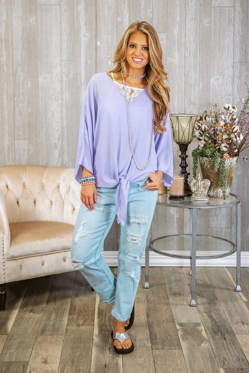 Glitzy Girlz Boutique Let's Stay Together Top, Lilac
