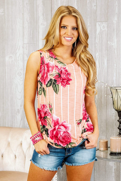Glitzy Girlz Boutique Living For Sun Top,  Peach