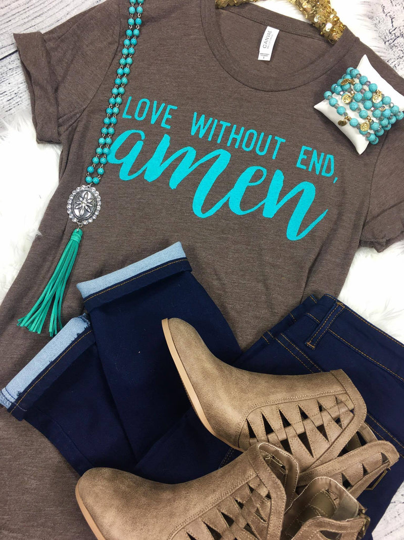 Glitzy Girlz Boutique Love Without End Amen Graphic Tee