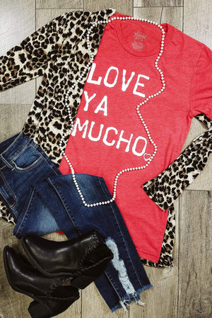 Glitzy Girlz Boutique Love Ya Mucho Graphic Tee