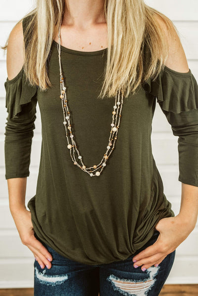 Glitzy Girlz Boutique Lush Layers Necklace, Champagne