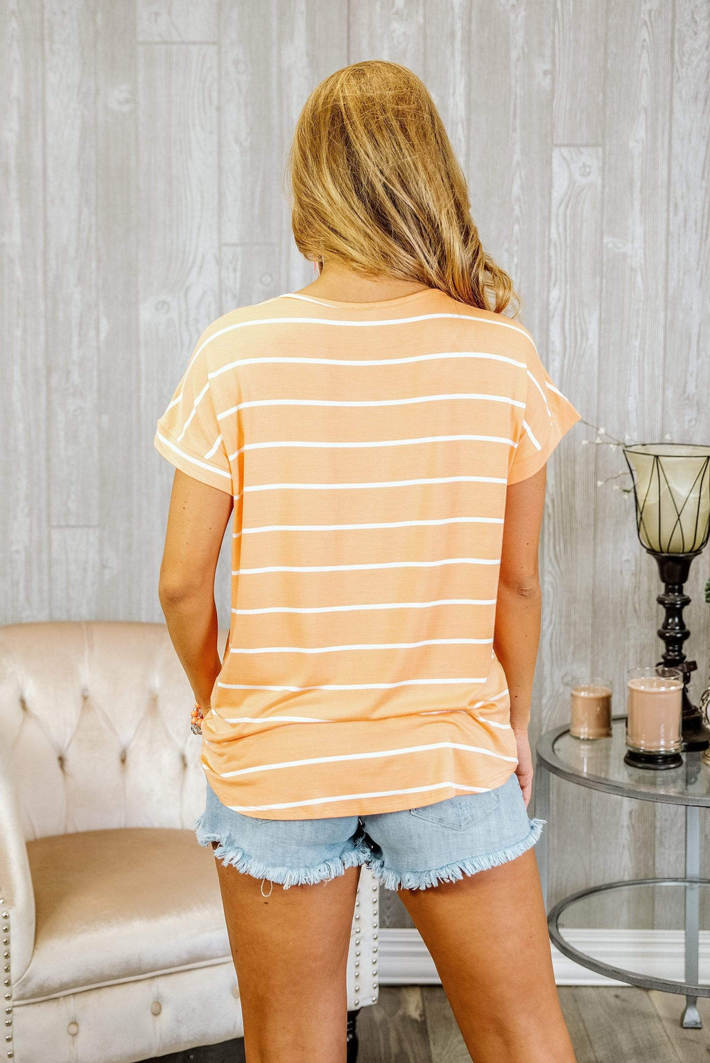 Glitzy Girlz Boutique Make You Happy Top, Orange