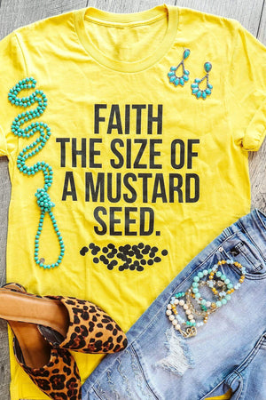 Glitzy Girlz Boutique Mustard Seed Graphic Tee