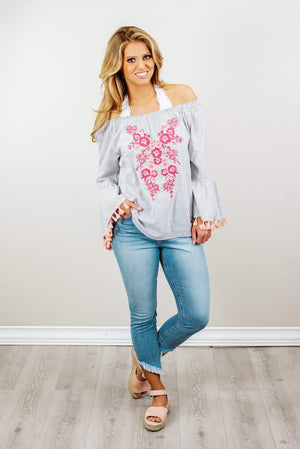 Glitzy Girlz Boutique My Soft Side Top, Pink Multi