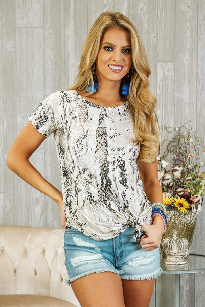 Glitzy Girlz Boutique Never Giving Up Top, Taupe/Black