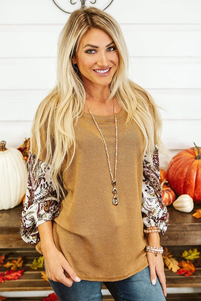 Glitzy Girlz Boutique Next Level Top, Camel