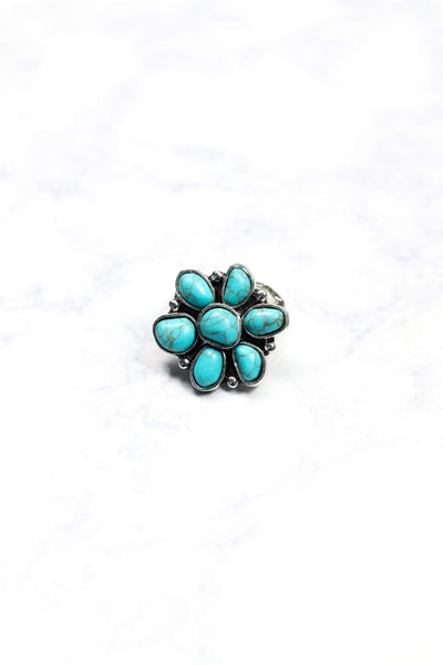 Glitzy Girlz Boutique Next To You Ring, Turquoise