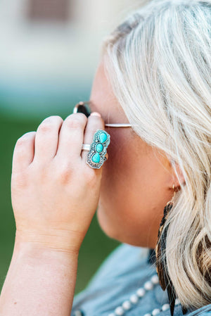 Glitzy Girlz Boutique One Voice Ring, Turquoise