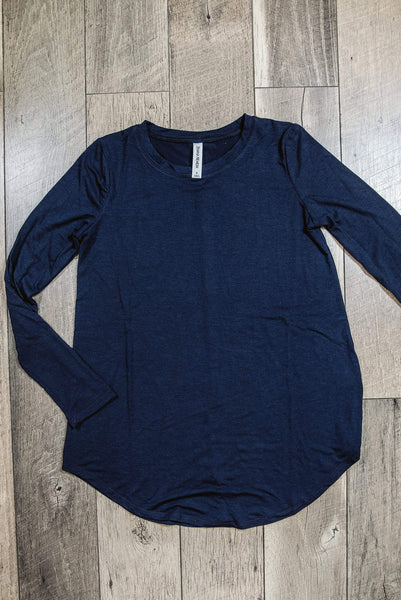 Glitzy Girlz Boutique Perfectly Basic Top, Navy